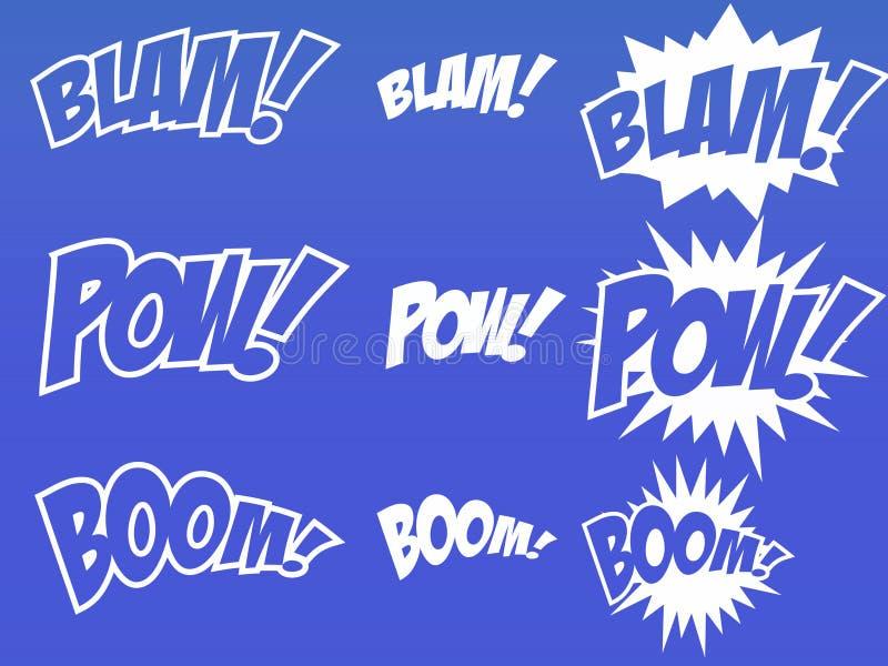 Éléments de bande dessinée image stock
