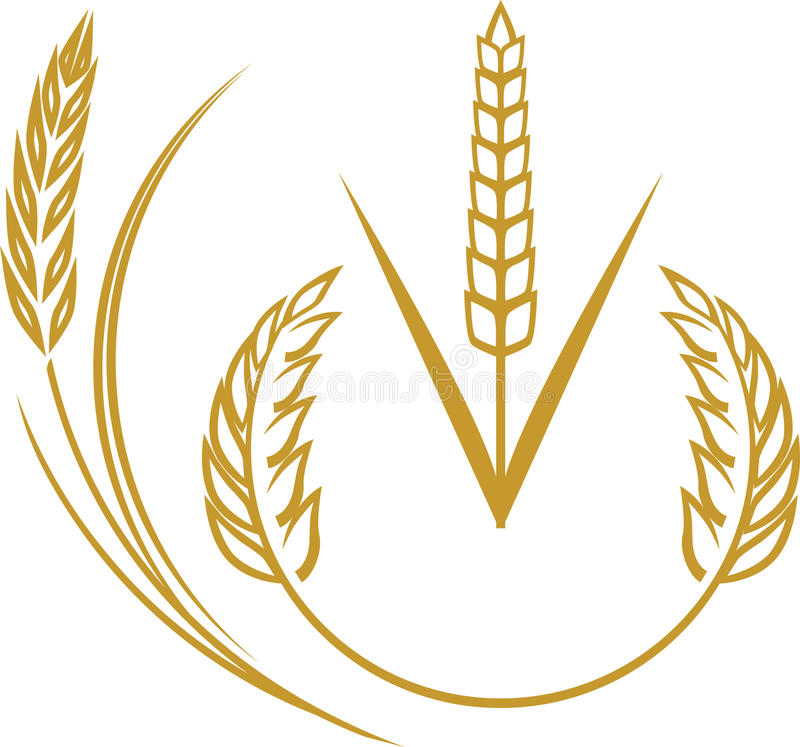 Éléments de blé illustration libre de droits