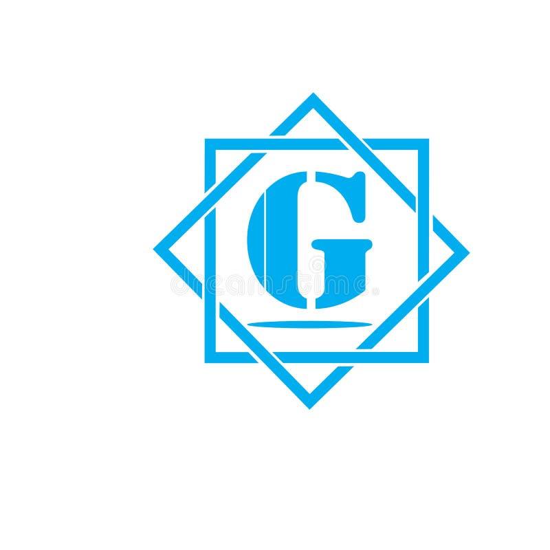 éléments de calibre de conception d'icône de logo de la lettre G pour votre identité d'application ou de société illustration stock