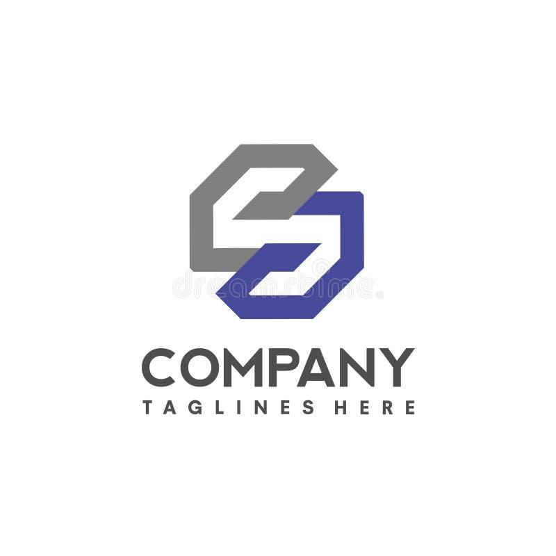 Éléments de calibre de conception d'icône de logo de la lettre S illustration libre de droits