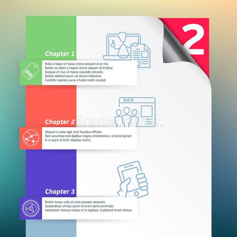 Éléments de calibre et de conception d'inforgraphics de vecteur illustration stock