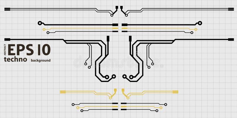 Éléments de carte de vecteur sur l'illustration de grille illustration de vecteur