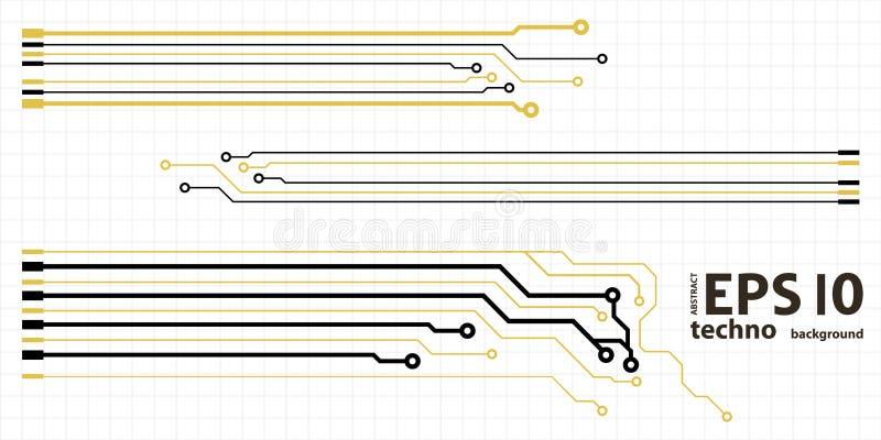 Éléments de carte de vecteur sur l'illustration de grille illustration stock