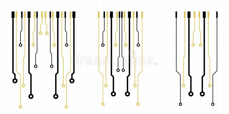 Éléments de carte de vecteur sur la grille illustration de vecteur