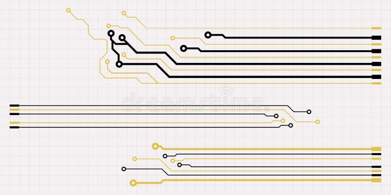 Éléments de carte de vecteur sur la grille illustration stock