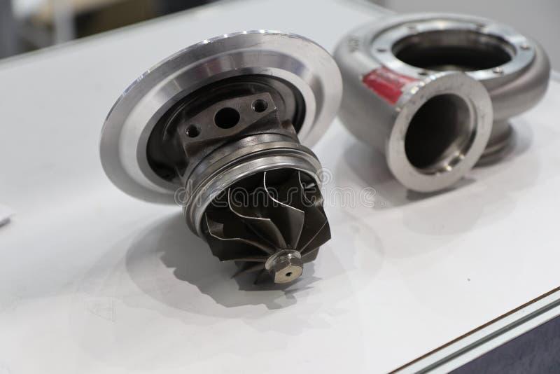 Éléments de chargeur de Turbo pour le moteur diesel photographie stock