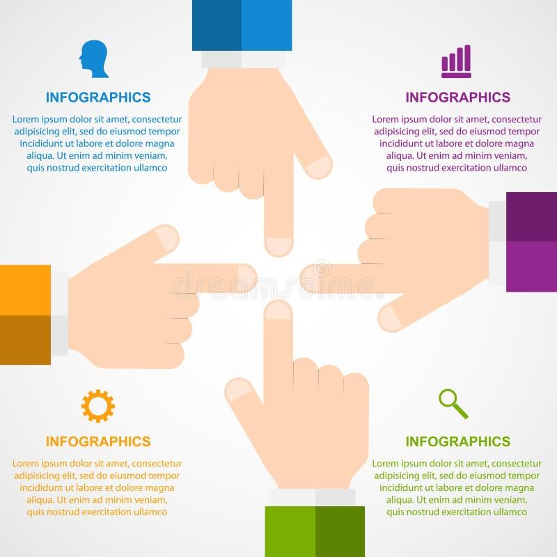 Éléments de conception d'Infographic dans le style plat illustration stock