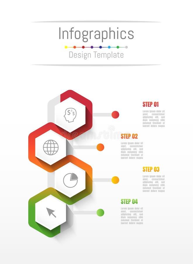 Éléments de conception d'Infographic pour vos données commerciales avec 4 options illustration libre de droits