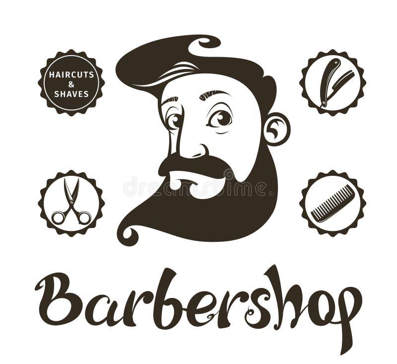 Éléments de conception de Barber Shop illustration libre de droits