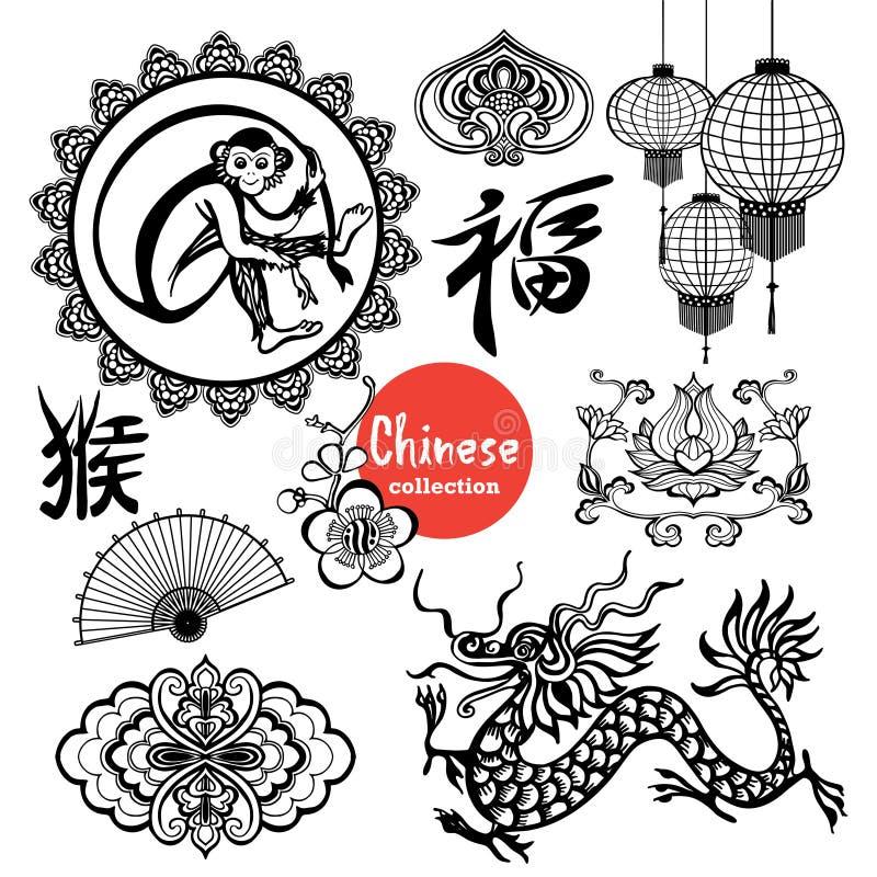 Éléments de conception de Chinois illustration stock