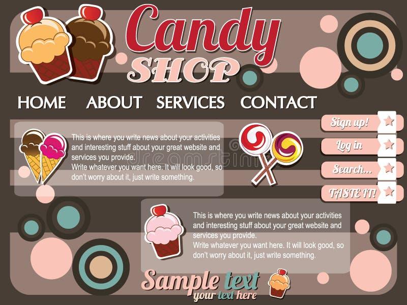 Éléments de conception de descripteur de site Web illustration stock