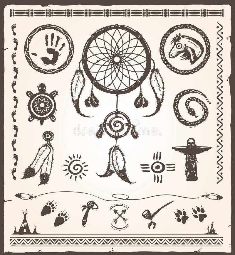 Éléments de conception de natif américain illustration de vecteur