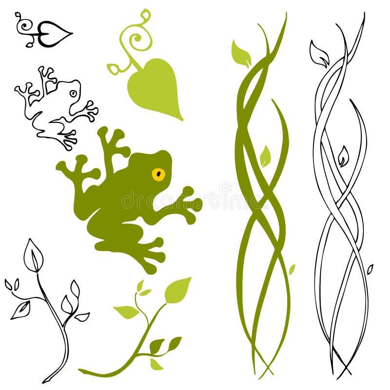 Éléments de conception de nature illustration de vecteur