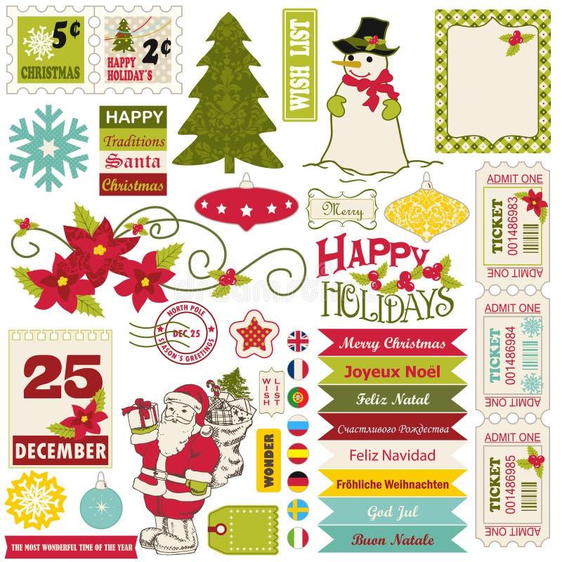 Éléments de conception de Noël. illustration de vecteur