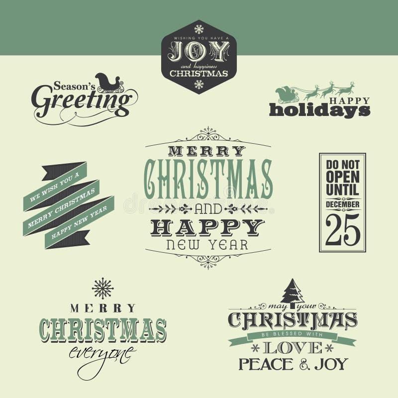 Éléments de conception de Noël illustration de vecteur