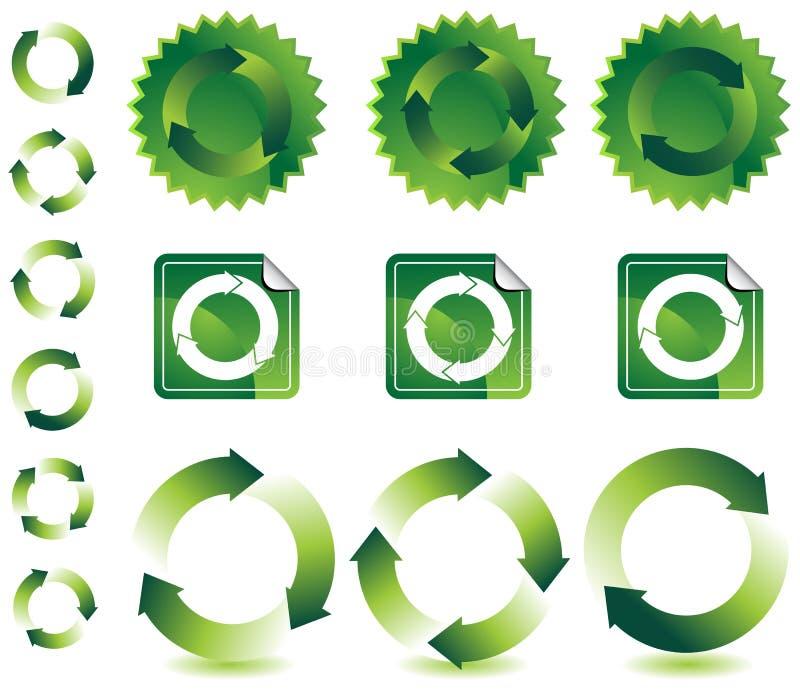 Éléments de conception de Recyling illustration de vecteur
