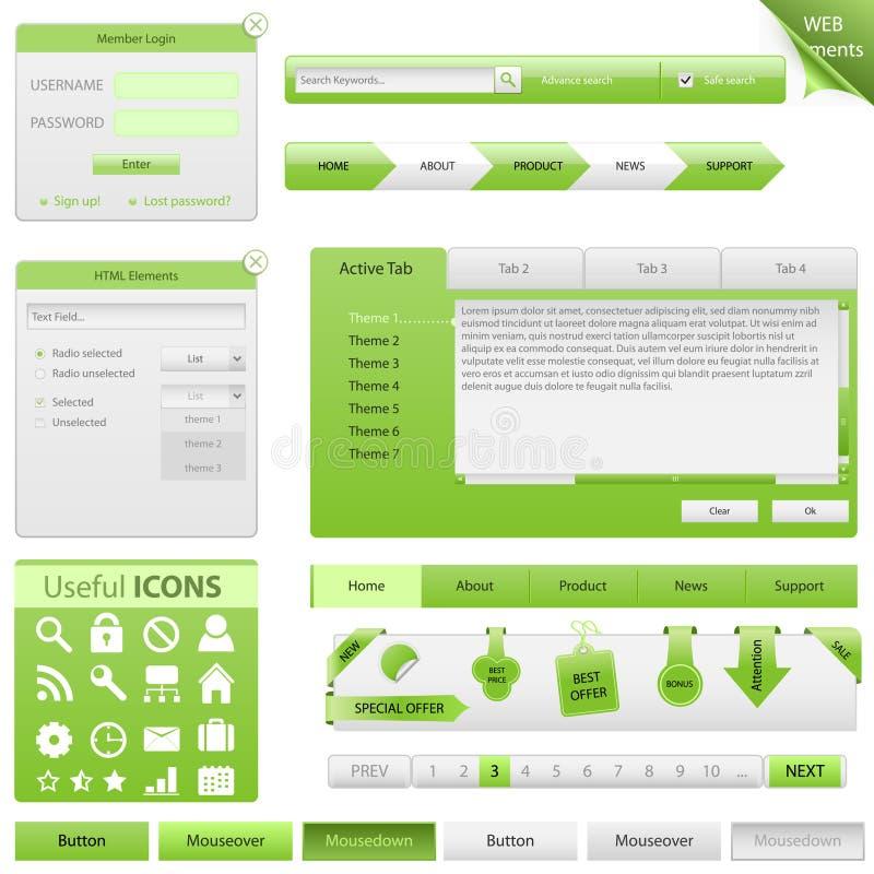 Éléments de conception de site Web de vecteur illustration stock
