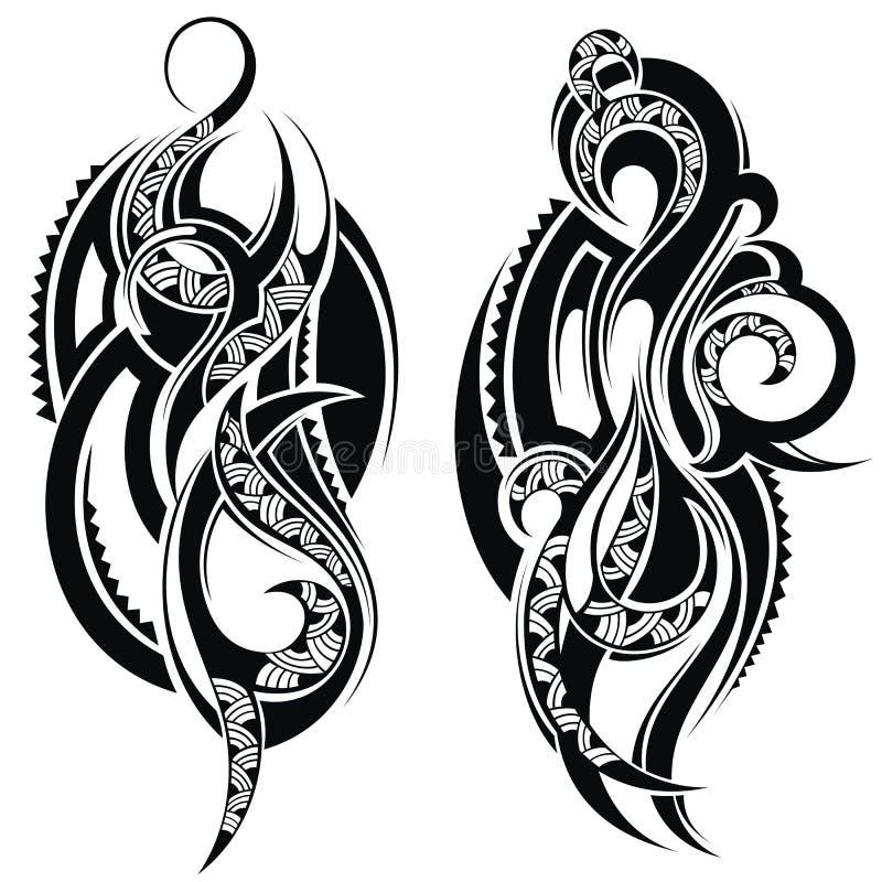 Éléments de conception de tatouage illustration de vecteur