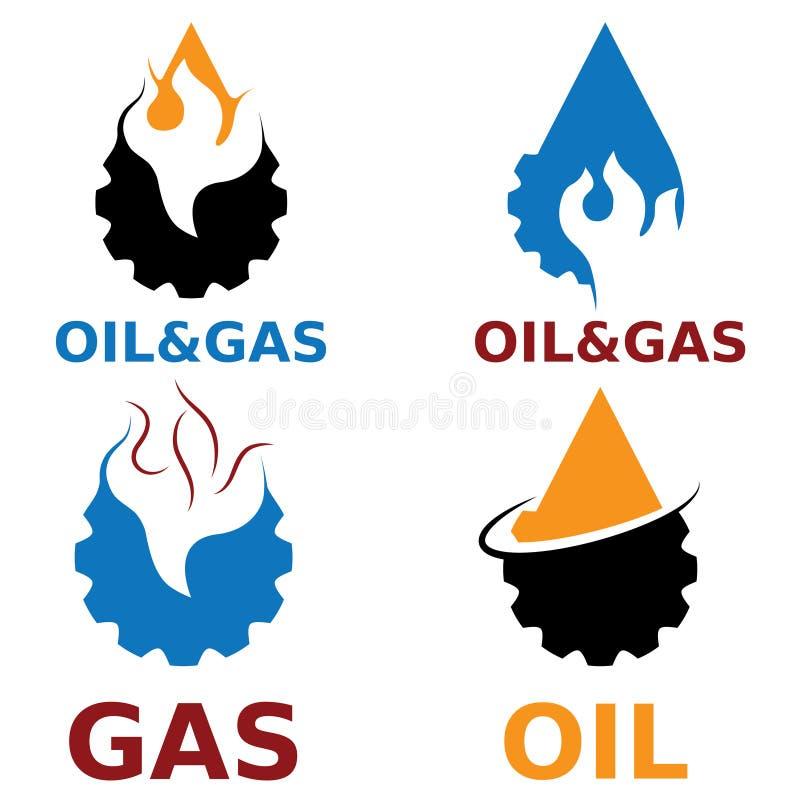 éléments de conception de vecteur d'industrie du gaz illustration libre de droits