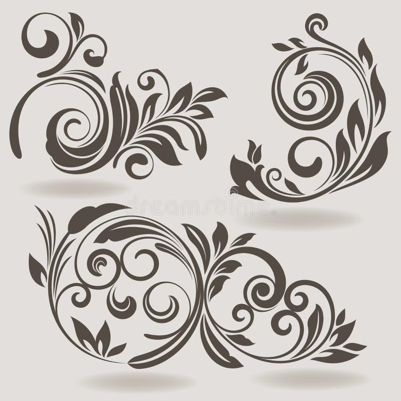 Éléments de conception de vintage illustration de vecteur