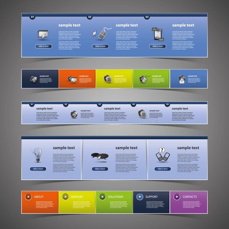 Éléments de conception de Web illustration stock
