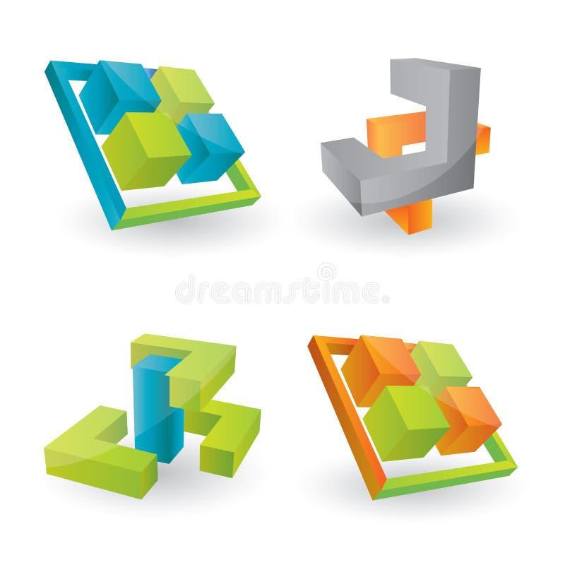 Éléments de conception du vecteur 3d illustration libre de droits