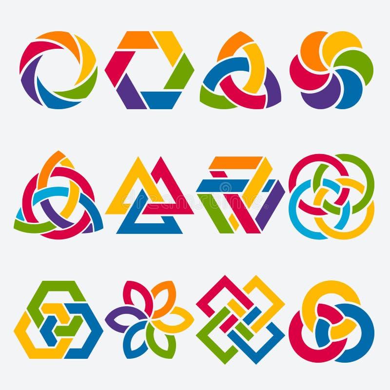 Éléments de conception Ensemble de symbole abstrait illustration stock