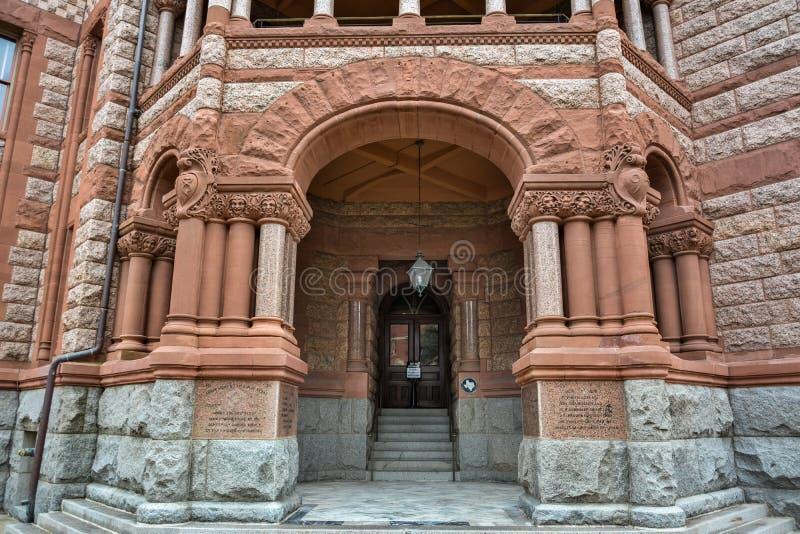 Éléments de conception extérieure d'Ellis County Courthouse dans Waxahachie, TX photos stock