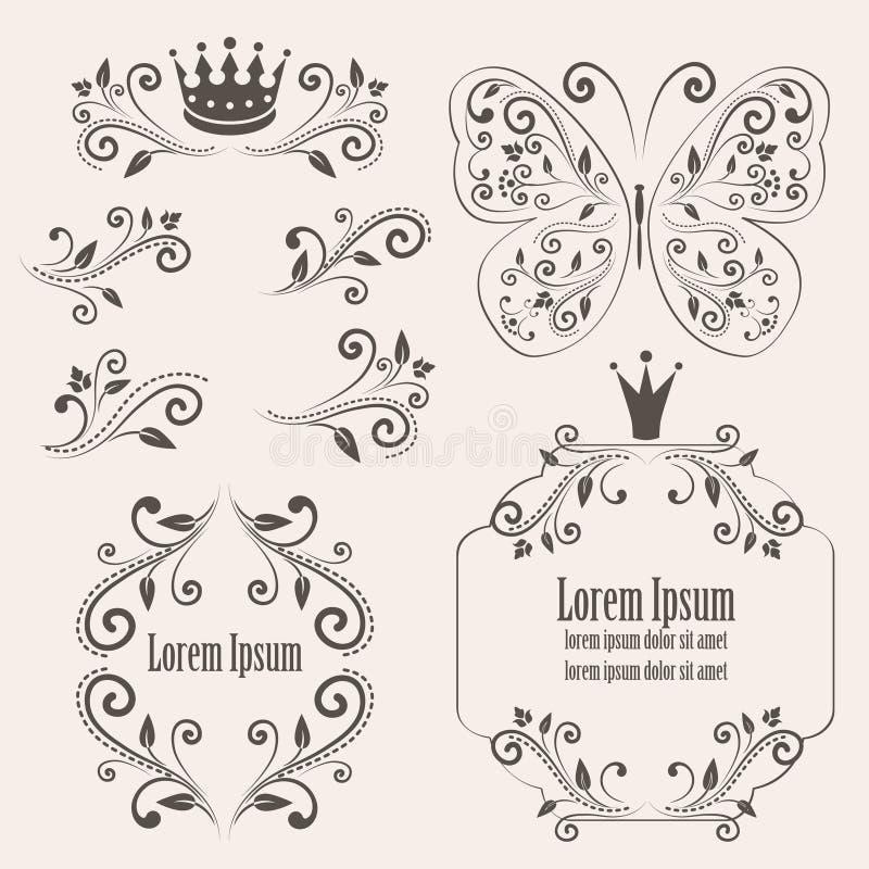 Éléments de conception florale illustration libre de droits