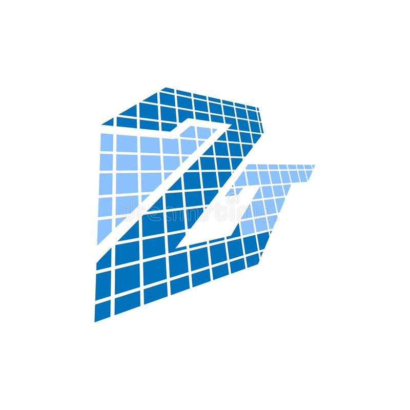 Éléments de conception de monogramme, calibre gracieux Conception élégante calligraphique de logo Monogramme logo de Z de schéma  illustration de vecteur