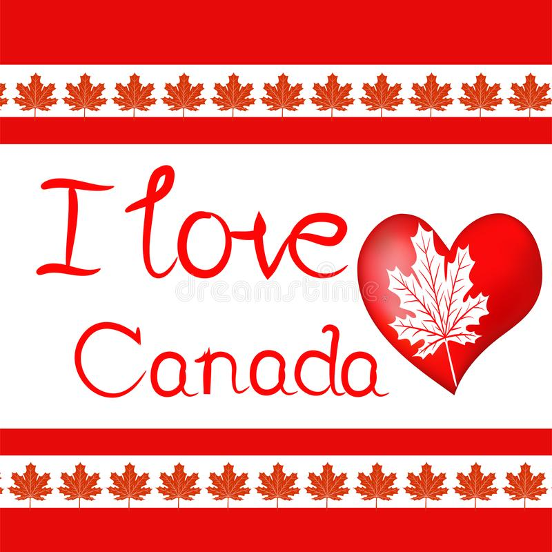 Éléments de conception pour le jour du Canada d'abord de juillet Vecteur illustration stock