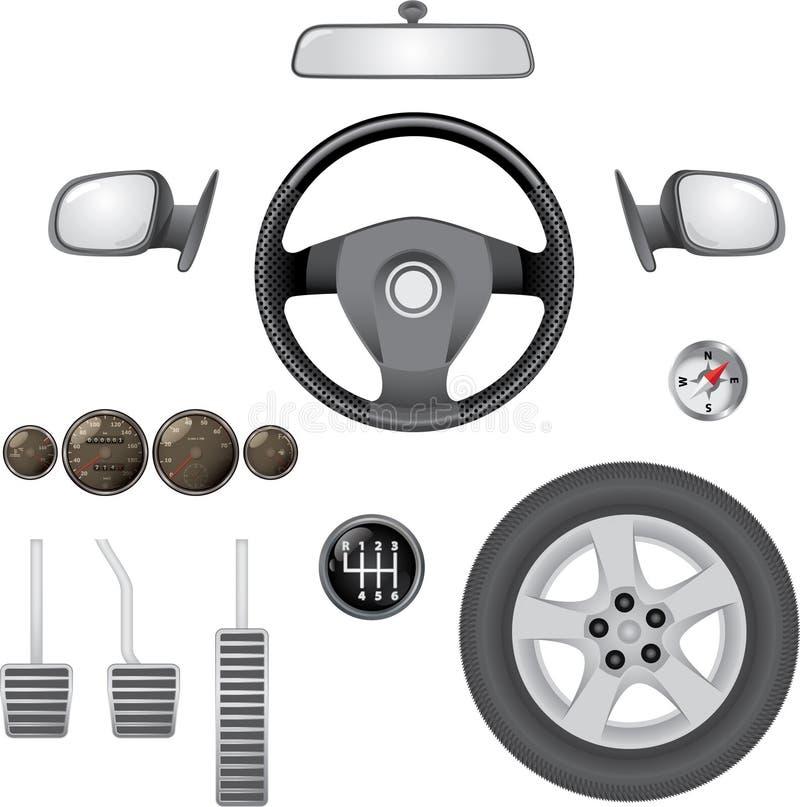 Éléments de contrôle de véhicule illustration stock