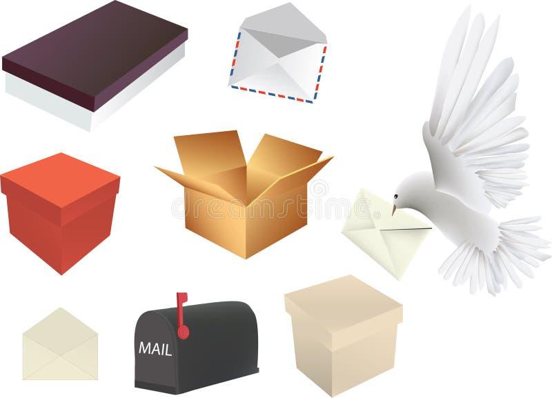 Éléments de courrier illustration libre de droits