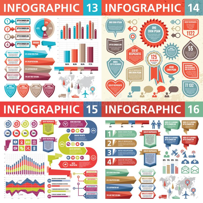 Éléments de design d'entreprise d'Infographic - illustration de vecteur Collection de calibre d'Infograph Ensemble créatif de gra illustration stock