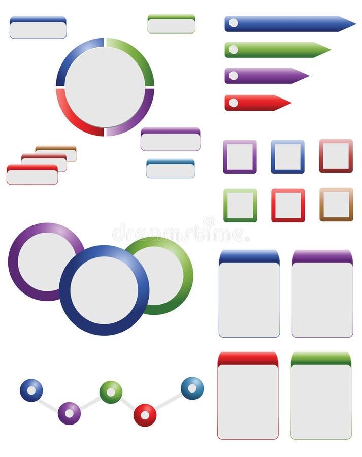Éléments de dessin d'information illustration stock