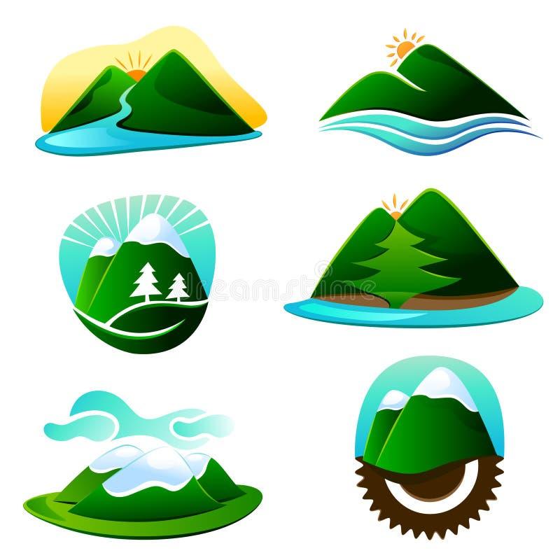 Éléments de dessin de montagne illustration libre de droits