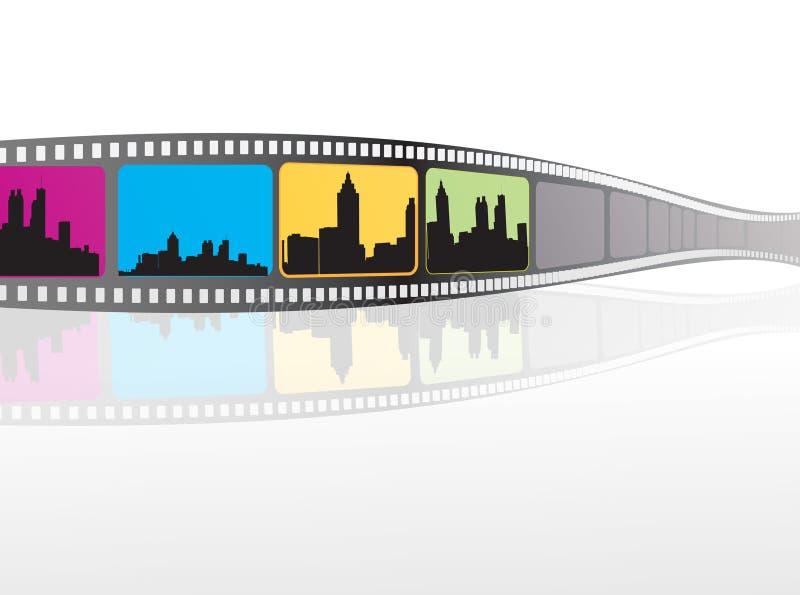 Éléments de film illustration de vecteur