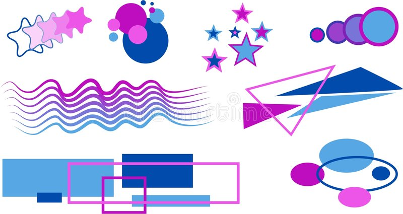 Download Éléments de forme illustration stock. Illustration du graphismes - 91549