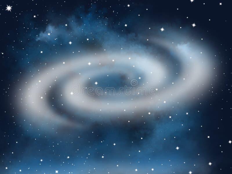 Éléments de galaxie de l'espace libre, affiche abstraite d'affaires de qualité superbe illustration stock