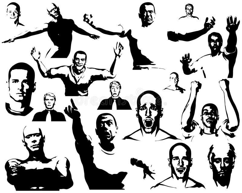 Download Éléments de gens illustration de vecteur. Illustration du vecteur - 8668671