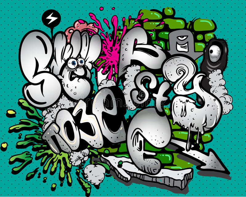 Éléments de graffiti illustration libre de droits