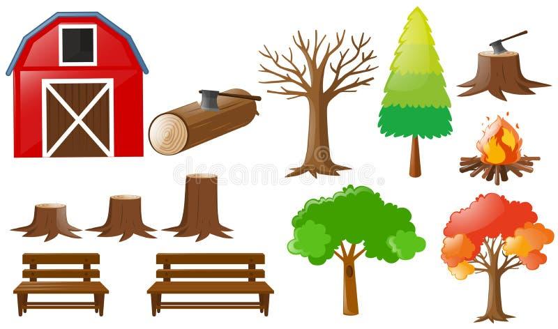 Éléments de grange et de nature illustration libre de droits