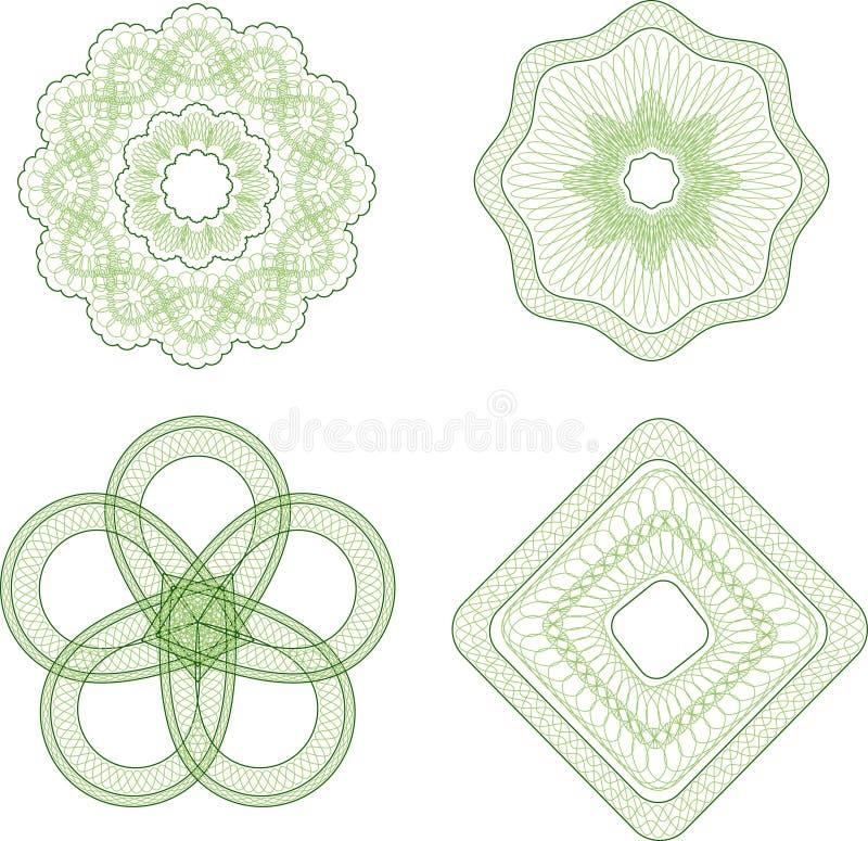 Éléments de guilloche illustration de vecteur