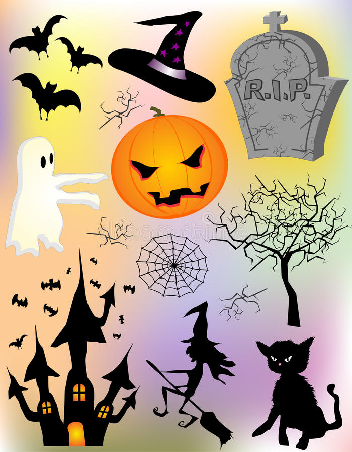 Éléments de Haloween illustration stock
