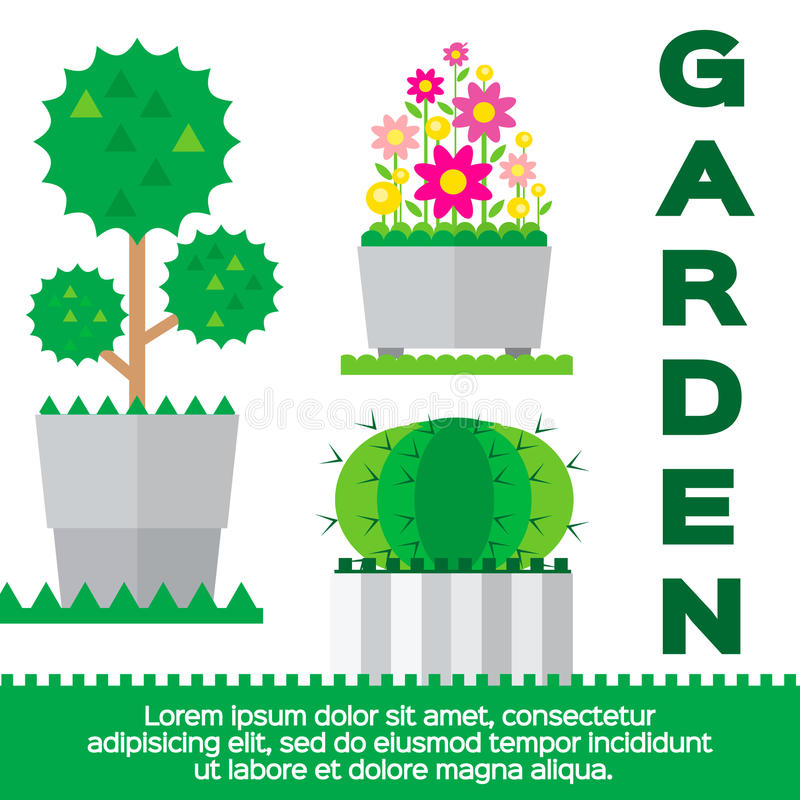 Éléments de jardin illustration libre de droits