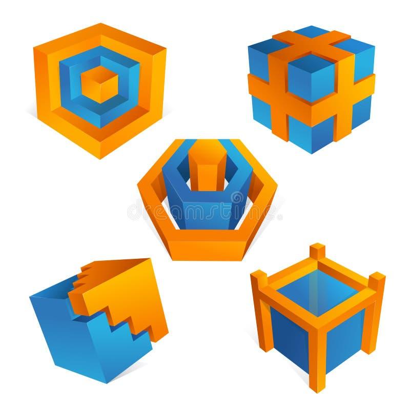 éléments de la conception 3D illustration stock