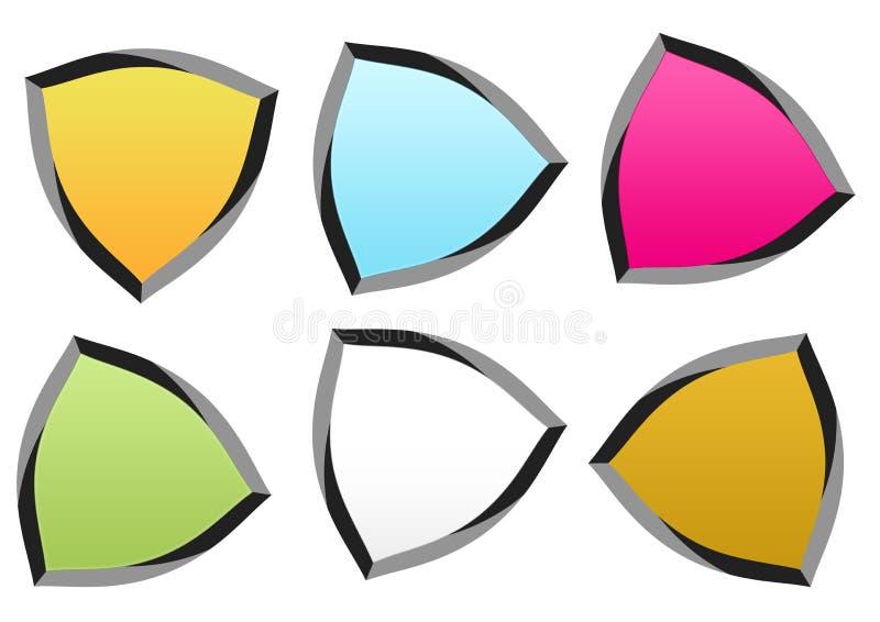 Éléments de logo colorés illustration de vecteur