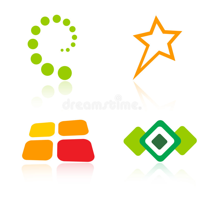 Éléments de logos/logo de compagnie illustration libre de droits