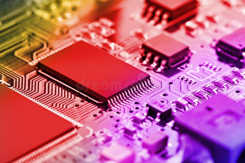 Éléments de microcircuit photographie stock libre de droits