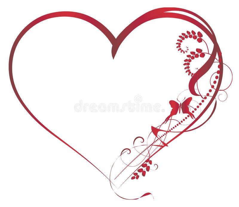 Éléments de milieux de Valentine illustration stock